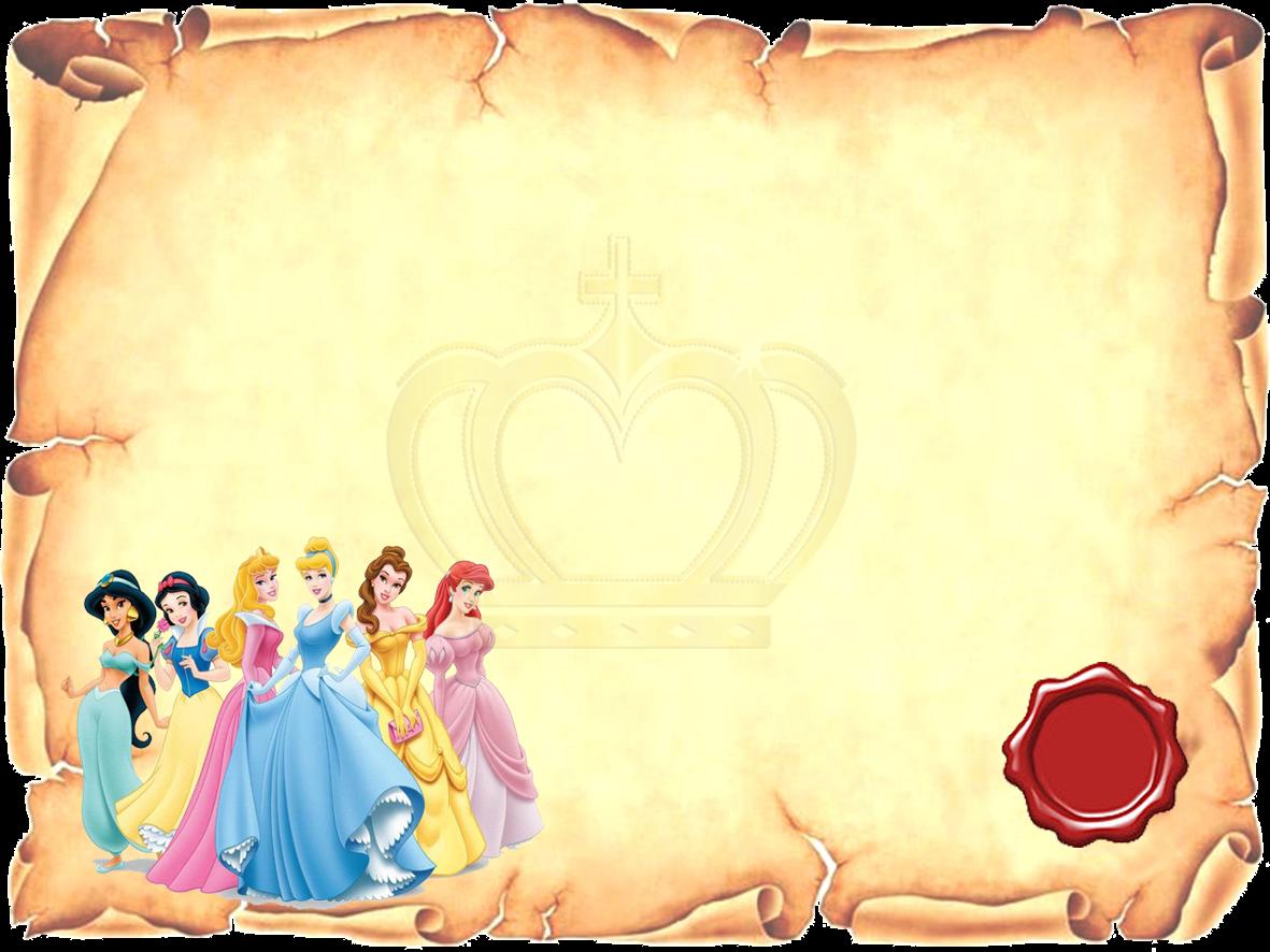 Para hacer invitaciones, tarjetas, marcos de fotos o etiquetas, de Princesas Disney  para imprimir gratis.