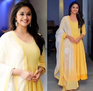 Keerthy Suresh in Yellow Dress for Mahanati Press Meet 2