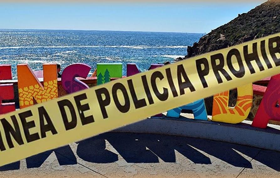 linea de policía, imagen turistica en ensenada, imagen sobre inseguridad