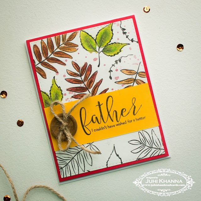 Father's day card with #winnieandwalter , #concordand9th and #wplus9 stamps