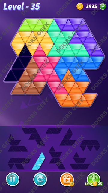 Block! Triangle Puzzle Proficient Level 35 Solution, Cheats, Walkthrough for Android, iPhone, iPad and iPod