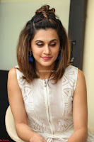 Taapsee Pannu in cream Sleeveless Kurti and Leggings at interview about Anando hma ~  Exclusive Celebrities Galleries 005.JPG