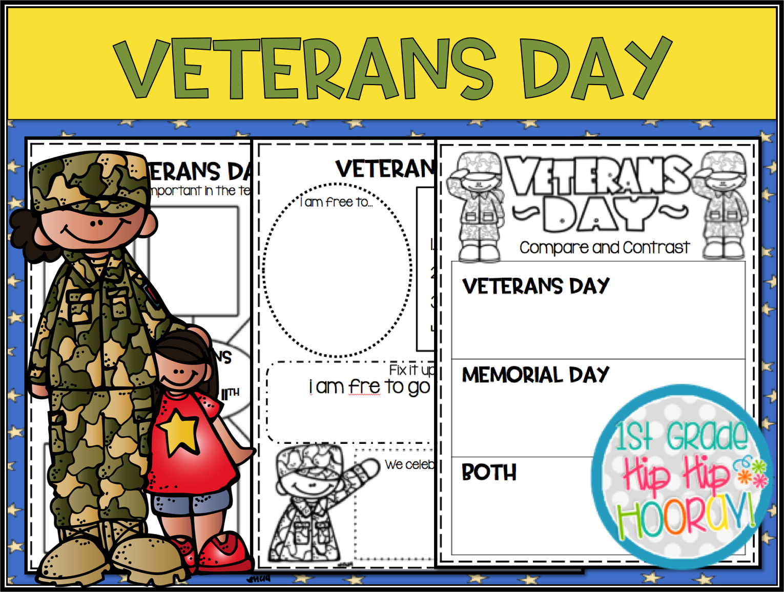 Veterans Day Worksheet For 1st Grade   Printable Worksheets and Activities  for Teachers [ 1155 x 1530 Pixel ]