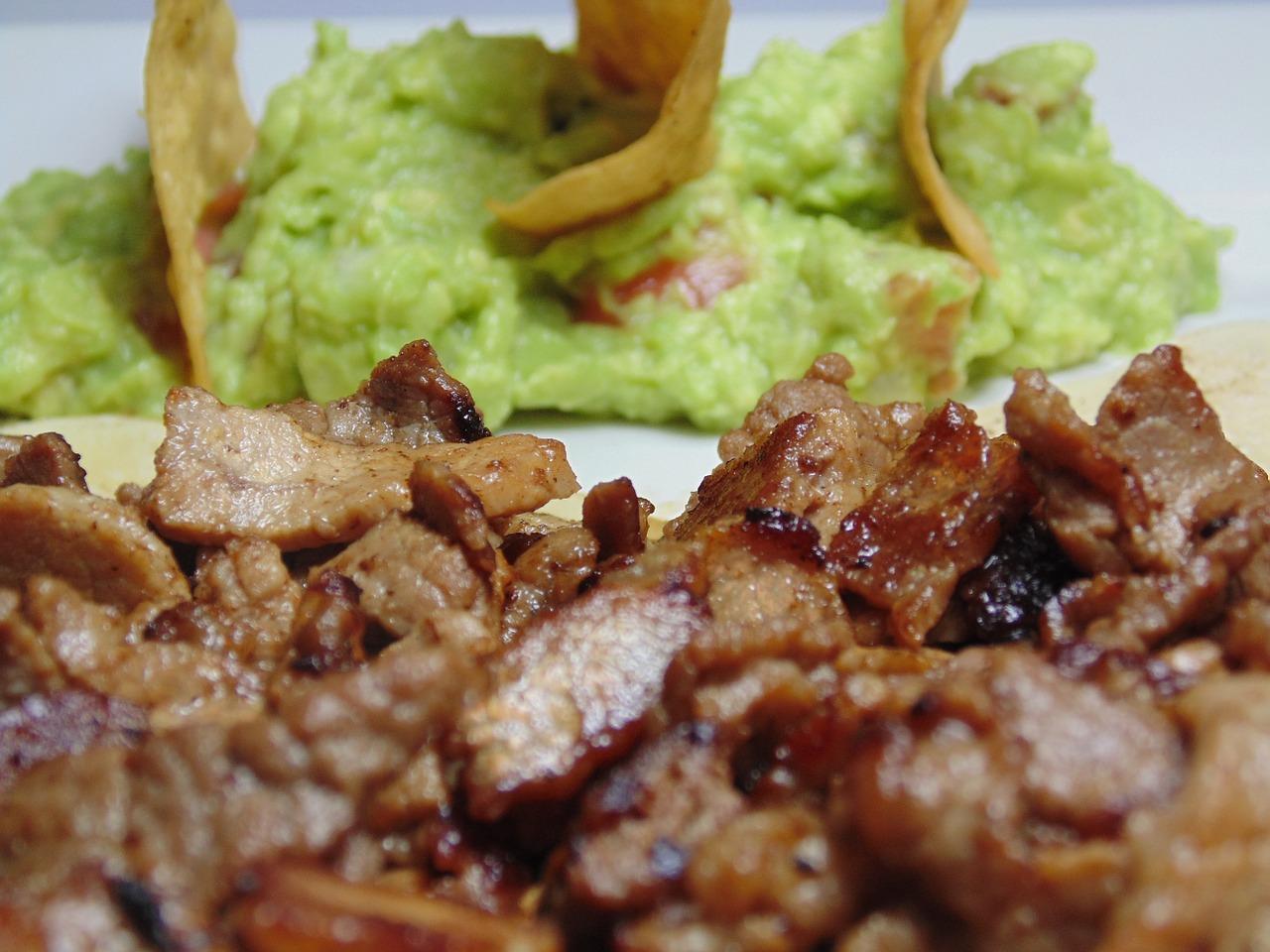 Pork Carnitas with guacamole