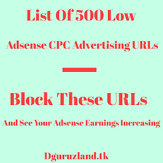 List of low Adsense CPC Advertising URL