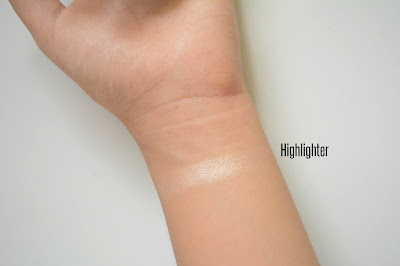 Faces cosmetics highlighter swatch