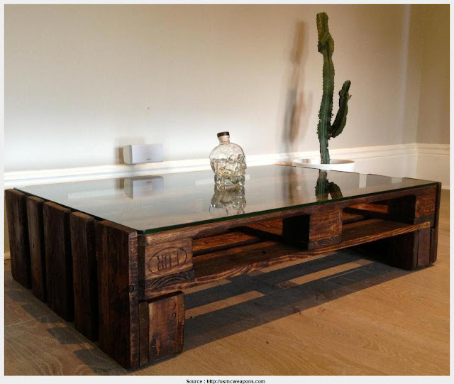 Simple Glass Wood Coffee Table Photograph
