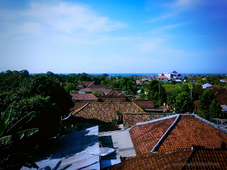 View Of House Top Roofs Village Settlement At Sulanyah Village, Seririt, North Bali, Indonesia