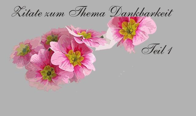Blumen als Dank