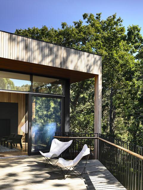 Maison contemporaine dans la verdure terrasse