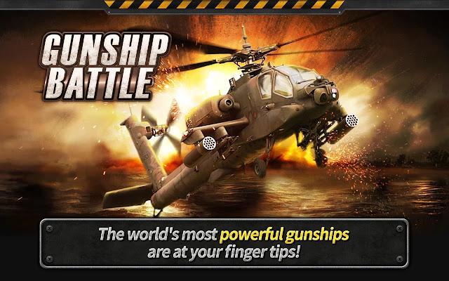 تحميل لعبة GUNSHIP BATTLE: Helicopter 3D v2.4.40 مهكرة للاندرويد (اخر اصدار)