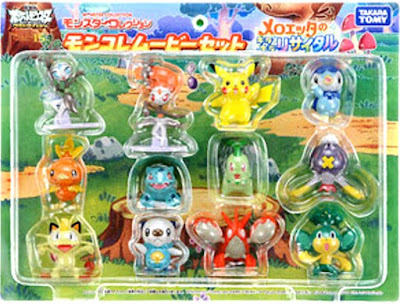 Oshawott figure Takara Tomy Monster Collection 2012 meloetta movie set