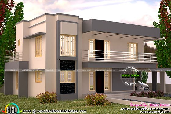 3005 square feet flat roof house plan