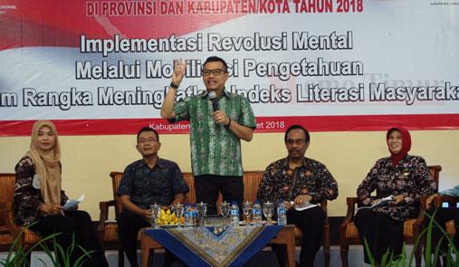 Dialog bersama Perpusnas dan Anang Hermansyah