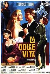 La Dolce Vita, Federico Fellini, Italian film poster
