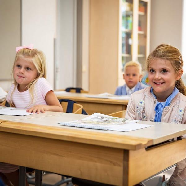 Pierwszy dzień księżniczki Estelle w szkole!