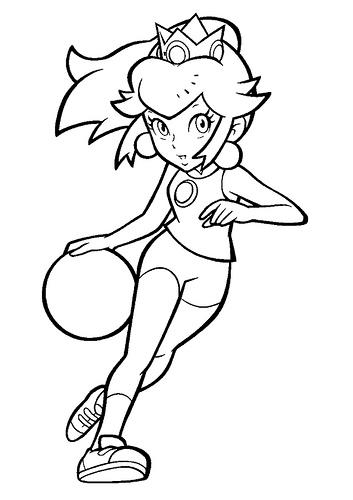 Desenhos Da Princesa Do Mario Para Colorir