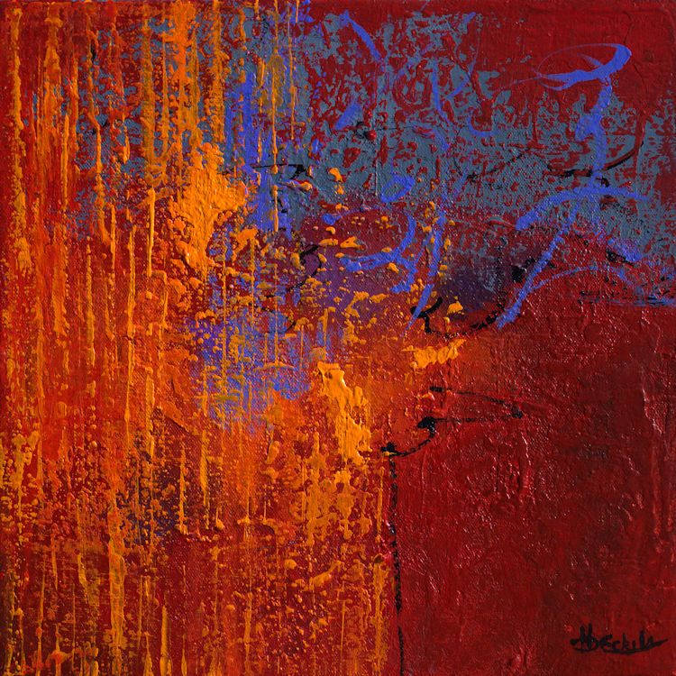 No Day Without Art By Nancy Eckels Large Abstract By
