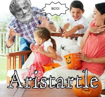 Aristartle startles a kid