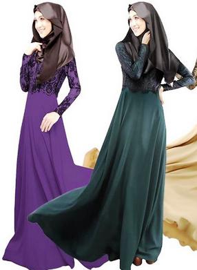 maxi dress muslimah murah