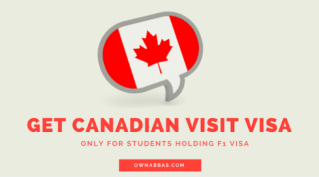 how to apply for canadian visit and tourist visa from usa if you are on student F1 visa