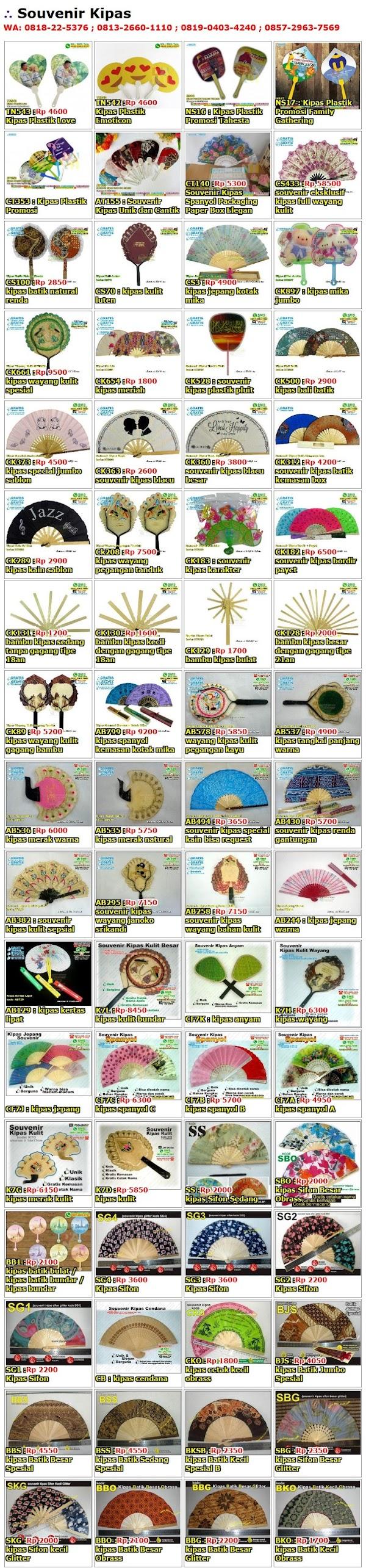 Daftar Harga Souvenir Kipas