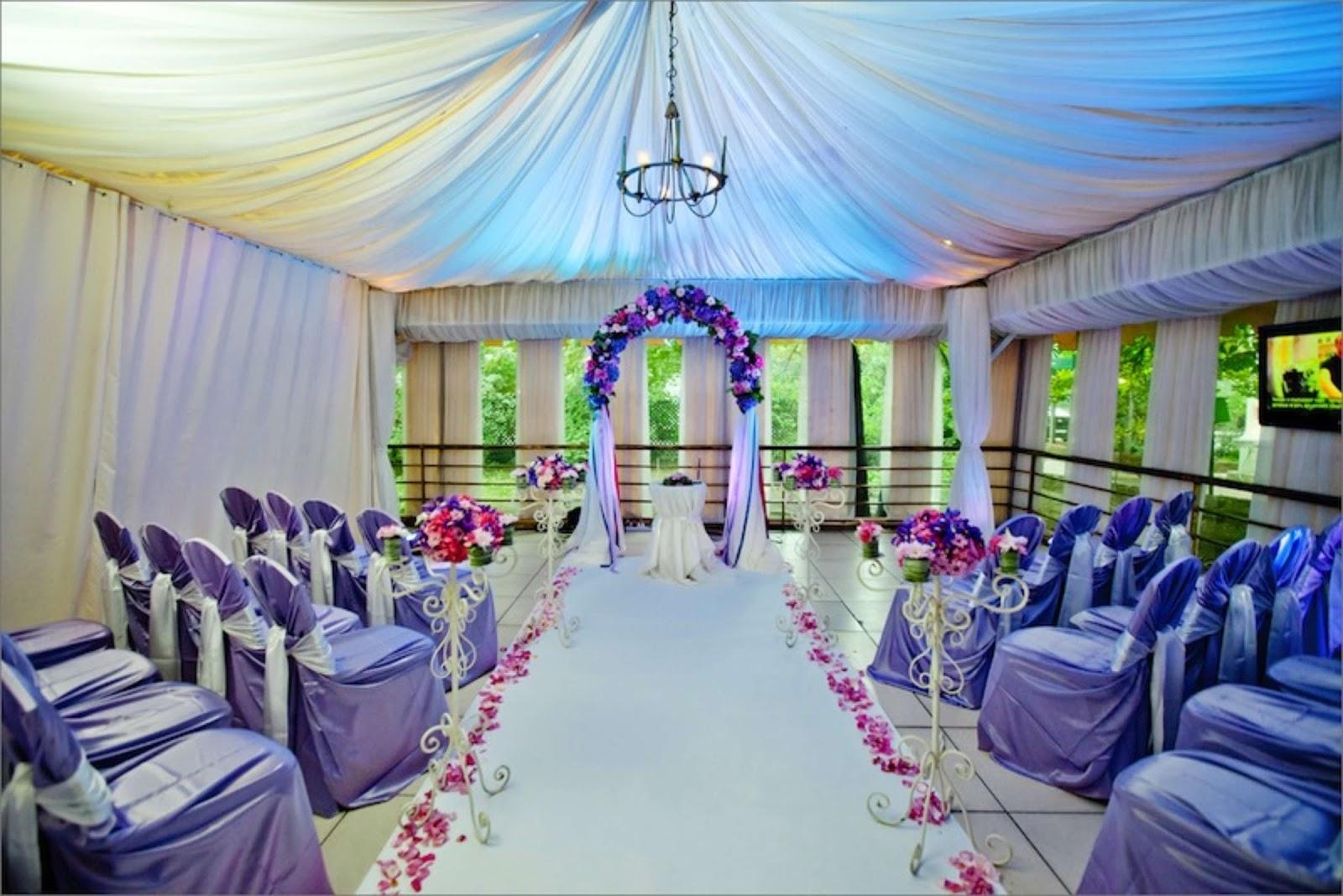 Marvelous Purple Wedding Decoration - All About Wedding