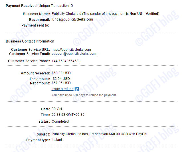 AdClerks payment proof