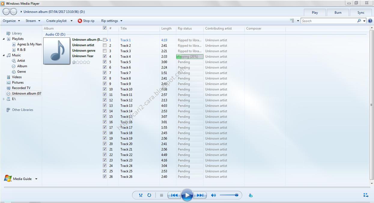 Cara Merubah Type File CD Audio Menjadi MP Cara Merubah Type File CD Audio Menjadi MP3