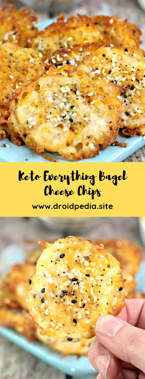 Keto Everything Bagel Cheese Chips #snack #keto #lowcarb