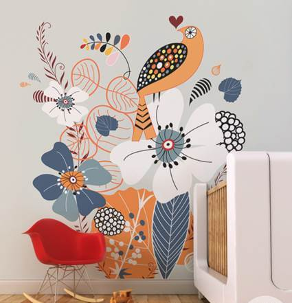 Children's decor with wall paintings 8