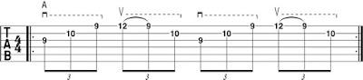 three-string sweep pattern