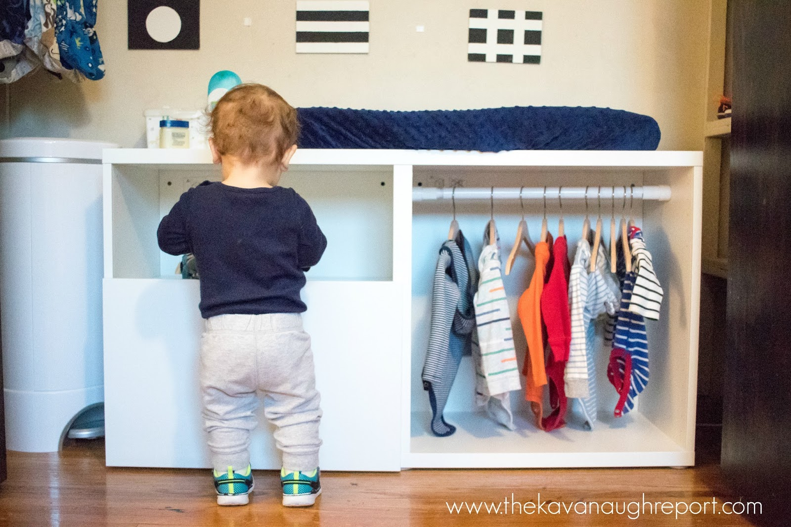 Montessori Toddler Wardrobe Ikea Besta Hack