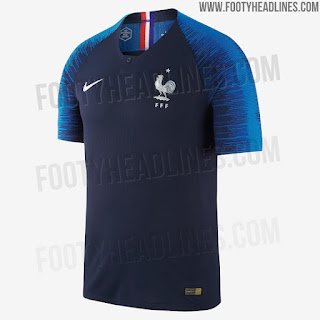 Tampak depan france world cup 2018 kit home