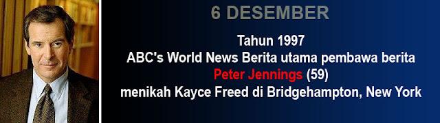 6 Desember pernikahan Peter Jennings