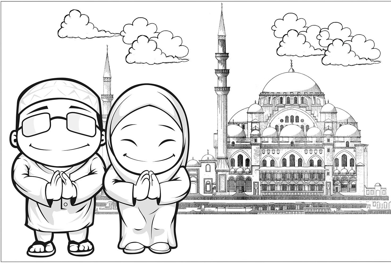 Gambar Wallpaper Mewarnai Hitam Putih Huruf Hijaiyah Anak TK PAUD Terbaru