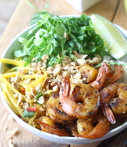 grilled shrimp satay rice noodle salad recipe