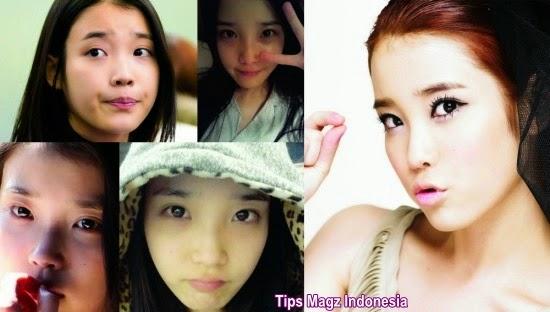 artis korea IU saat tanpa memakai makeup