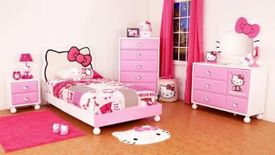 Kamar Tidur Cantik Serba Hello Kitty