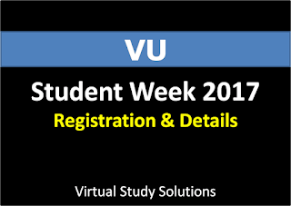 VU Student Week 2017 Registration and Complete Details
