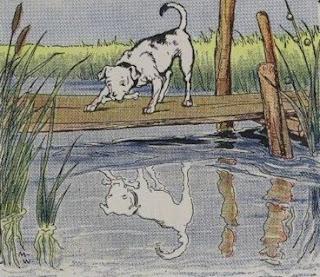 El Perro y el reflejo en el Río