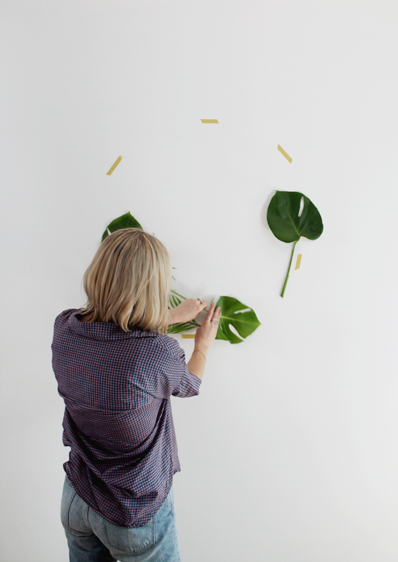 diy-mural-hojas-naturales-leaf-backdrop