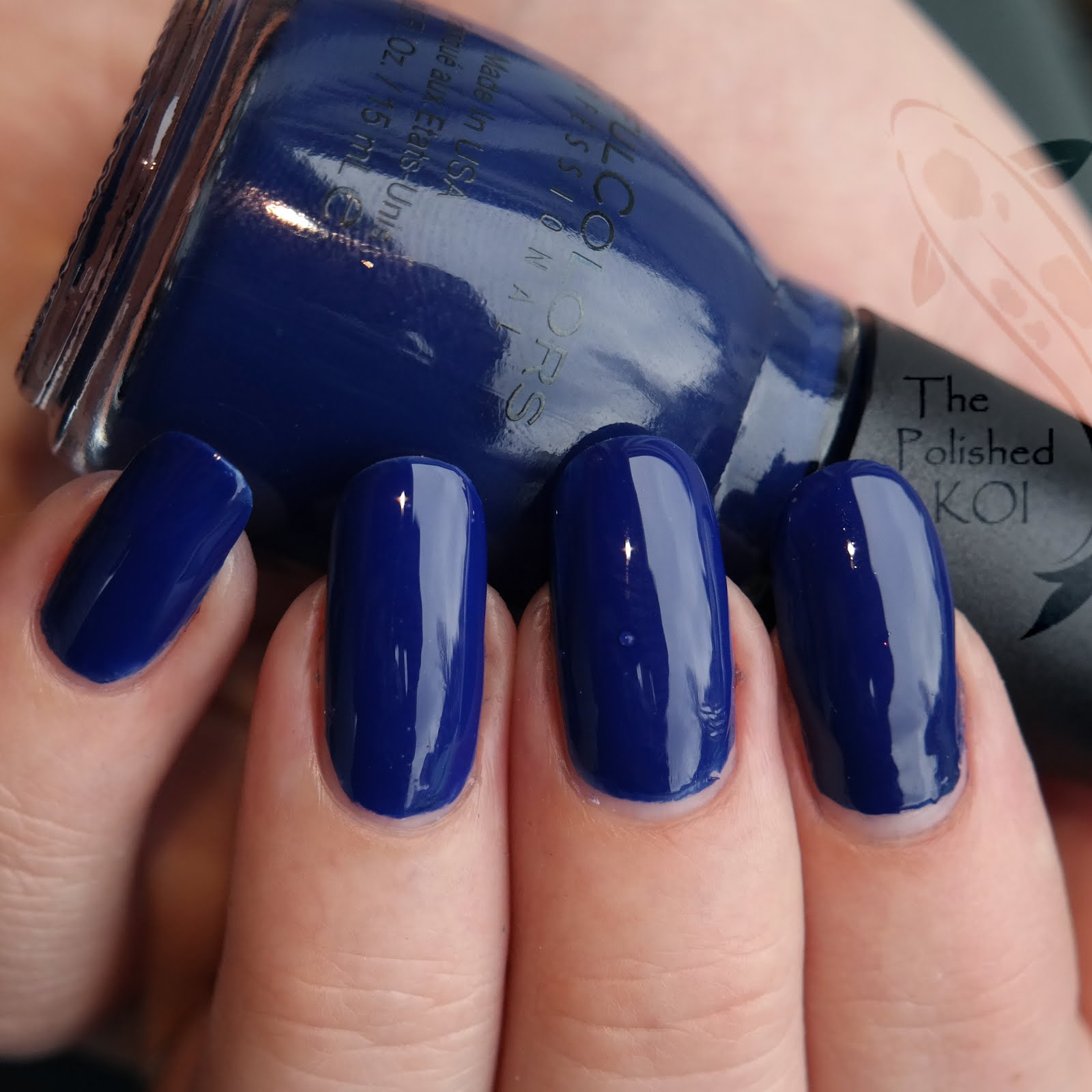 The Polished KOI: Swatch & Art: Sinful Colors - Navy I Do
