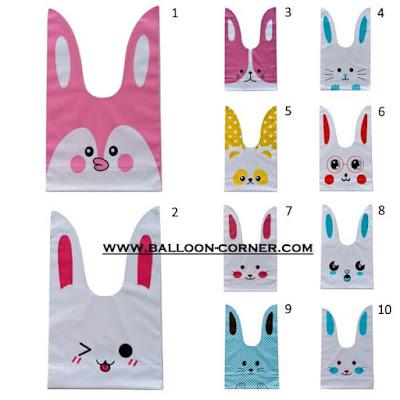Rabbit Plastic Bags / Plastik Pembungkus Souvenir Kelinci