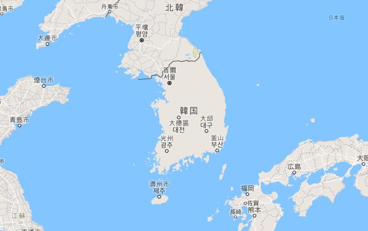 韓國制服地圖