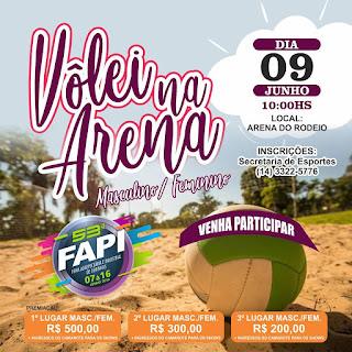 Prefeitura de Ourinhos promove competição de vôlei na areia durante a 53ª FAPI