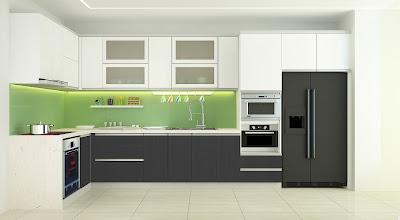 Bí quyết lựa chọn kính màu trong trang trí nhà bếp