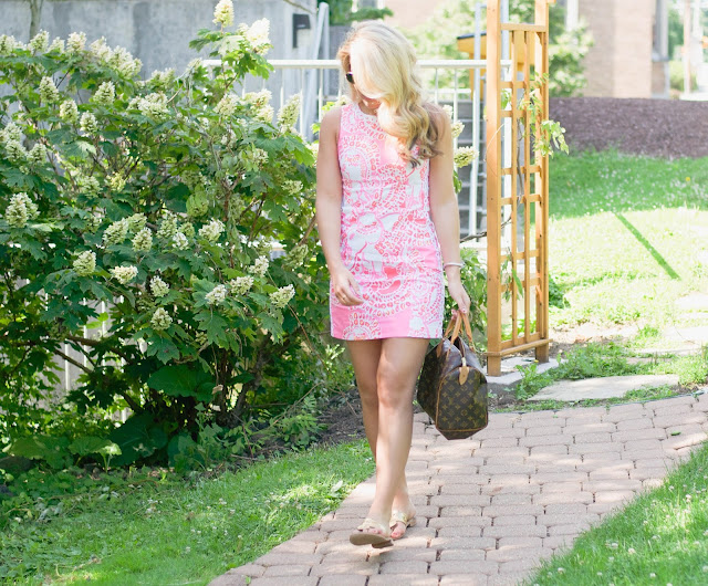 Lilly Pulitzer Mila Shift dress and Jack Rogers Sandals