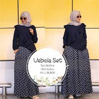 Jual Baju Setelan Muslim Wanita Vebiola Set