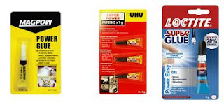 Many trade mark of plastic adhesive in the market like Power Glue, Super Glue or Locktite